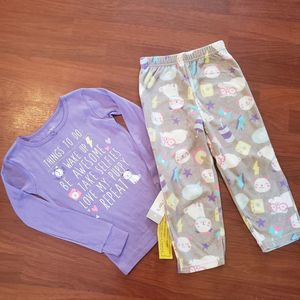 NWT Carters Little Girl Pajama set